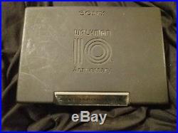 Vintage Special Commemorative Edition Silver Plated Sony Walkman Model WM-701S