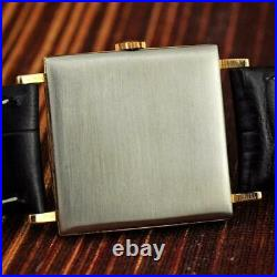 Vintage Square Girard Perregaux Gold Plated Manual Wind Watch Swiss Made