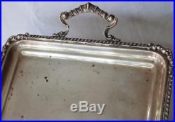 Vintage Sterling Silver Serving Waiter Tray ART NOUVEAU ornate platter 1.4kg