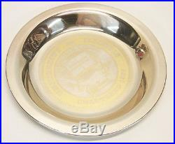 Vintage Sterling Silver University of Illinois Alumni Collector Plate Scrap/Use