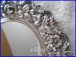 Vintage Stieff Rose Sterling Silver Repousse Bread Plate Hand Chased 925 Antique