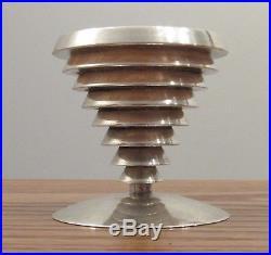 Vintage Swid Powell Robert & Trix Haussmann silverplate candlestick modernist