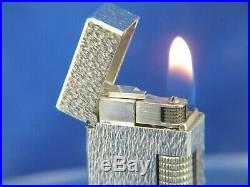 Vintage Swiss Dunhill Rollagas Lighter Silver Plate Nugget Serviced Minty