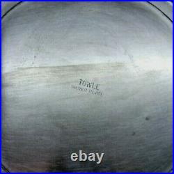 Vintage TOWLE Silver Plate Punch Bowl Set with Twelve (12) Cups & Leonard Ladle