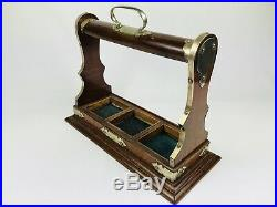 Vintage Tantalus Decanter Case Silver Plated Victorian