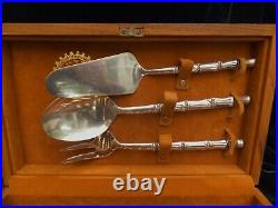 Vintage Thailand Bronze Gold Plated Desert Set Silver Plated Servers 1st prize