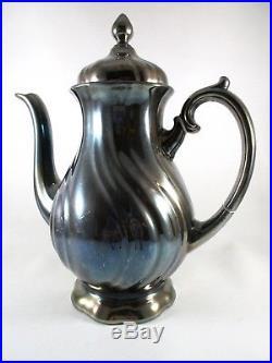 Vintage WMF GERMANY Silver Porcelain Art Nouveau Tea and Coffee 7 pc. Set