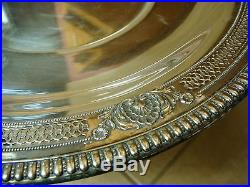 Vintage Wallace Sterling Silver Sir Christopher 4450-9 sandwich cookie plate 10