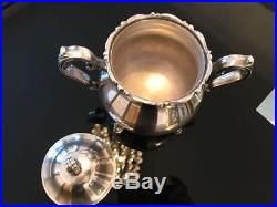 Vintage Wilcox Joanne 5pc Silverplated Coffee and Tea Set