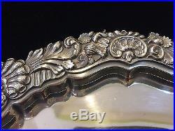 Vintage William Adams England Silver Plated Heavy Circular Serving Tray, 14 Dia