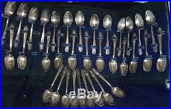 Vintage Wm Rogers Manufacturing Company 34 Set Figural Presidents Spoons Case