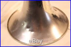 Vintage York Grand Rapids Silver Plate Slide Trombone