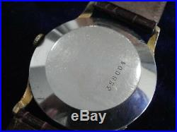 Vintage Zodiac Triple Date Calendar Moon Phase 34.6mm Gold Plated Case