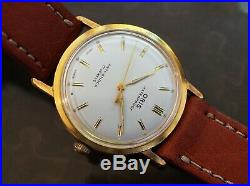 Vintage amazing mens Oris manual wind gold plated mint condition very rare