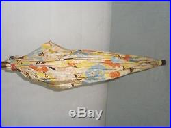 Vintage/antique Floral Design Parasol Unmarked Silver Plate Handle 66cm