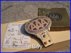 Vintage nos 50s AAA award auto emblem plate badge gm ford chevy rat rod pontiac