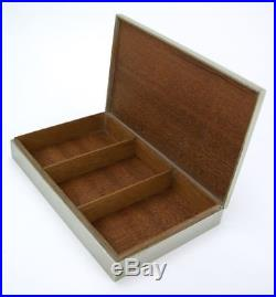 Vintage silver plated Hermes table box humidor cigarette case tobaccinalia Paris