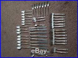 Vtg 1847 Rogers Bros.'Eternally Yours' Silverware Set with Chest- 8 Settings Plus