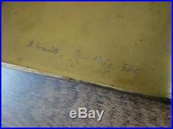 Vtg 1940 Ww2 Wwii German Wehrmacht Panzer Tank Silver Plate Cigarette Case Box