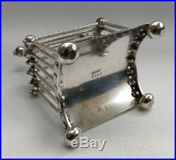 Vtg C 1881 Christopher Dresser Silver Plate 2555 Letter/Toast Rack Hukin & Heath