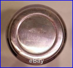 Vtg FIRST CLASS PAN AM AIRLINES Silver Plate wine/champagne bucket-cooler