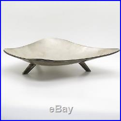 Vtg Mexico 925 Sterling Silver Handmade Modernist Plate