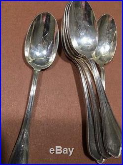 Vtg. R&D Ravinet Louis & Denfert Charles French Silver Plate Flatware Set 61Pcs
