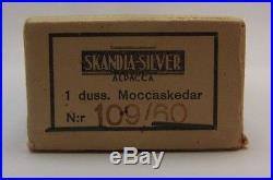 Vtg Swedish Heavy Silver Plate Demitasse Teaspoons Coffee Spoons HAGA 12 Box Set