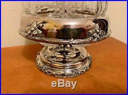 Vtg antique Reed & Barton Silver Plate Castor Cruet Condiment Set Victorian