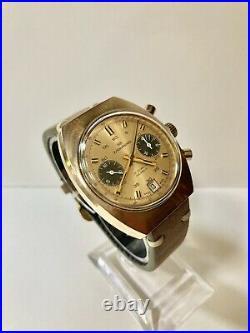 Wakmann Incabloc Vintage Chronograph Valjoux 7734 Gold Plated 2 Register