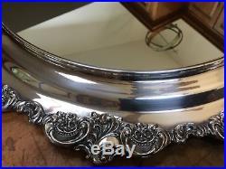 Wallace Baroque Plateau Mirror Silverplate Holloware Older Vintage