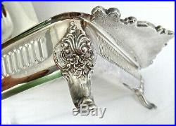 Wallace Baroque Silver Plate Footed Buffet Server #226 Vintage Casserole Server
