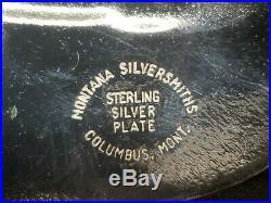 Wyoming Centennial 1890-1990 Belt Buckle Sterling Silver Plate, Montana Silversm