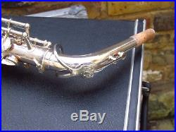 Yanagisawa A-4 alto silver plate closet special refurb with vintage case candy